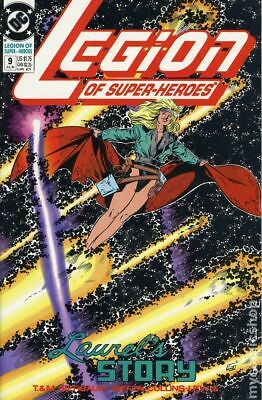 Legion of Super-Heroes (4th Series) #9 1990 FN Stock Image