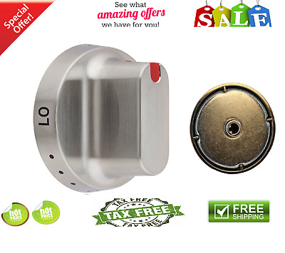 Knob Gas Range Dial Samsung Stove Oven Surface Control heavy Silver DG64-00347B