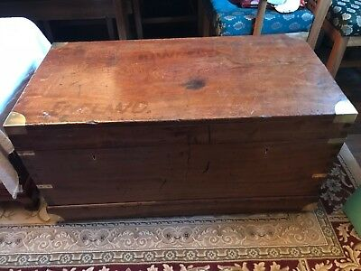 Brass Bound Campaign Chest - Camphor Wood Chest