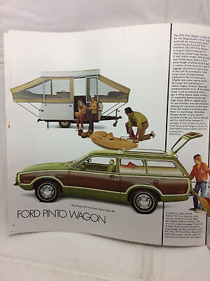 "Vintage 1973 Pinto Car Auto Brochure 11"" X 11"" Ford Wagon"