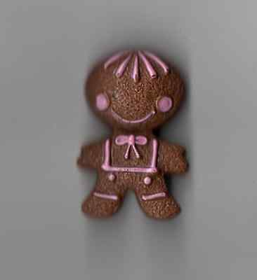Vintage 1972 Avon Scented Fragrance Glace Lapel Pin Gingerbread Man GIRL WOMAN