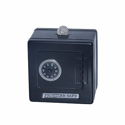 Frontier Safe - Metal Bank with Combination Lock Classic Children's Toy - Black