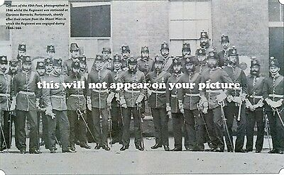 Uniforms. Queen's Lancashire Regt. 40th Foot. Officers in Portsmouth  1866