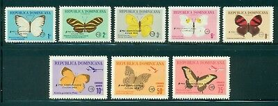 Dominican Republic MNH: Scott #B47//CB30 Butterflies Hurricane INEZ CV$56+
