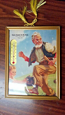 Antique Thermometer - Hayes County Co-Op Assn., Hayes Center, Nebraska Baseball