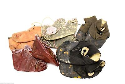 5 Pairs Antique Baby Shoes Booties Lace Up and Button Victorian Trashed