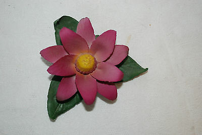 Capodmonte Porcelain PURPLE Flower  Figurine  Made in Italy