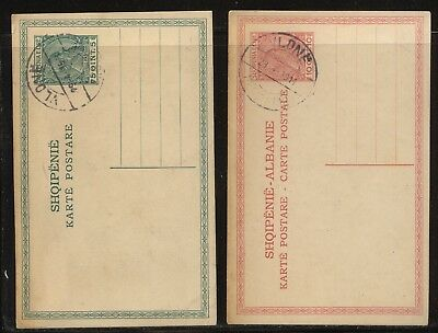Albania   2  postal  cards    cancelled           KL10.04