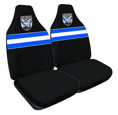 CANTERBURY BULLDOGS Official NRL Seat Covers Airbag Compatible *NEW 2018 Design*