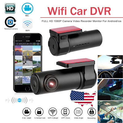 HD 1080P Car DVR WiFi Dash Camera Hidden Recorder Rear View Camcorder G-Sensor