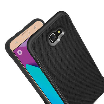For Samsung Galaxy J3/J5/J7 Prime, Shockproof Soft Rubber Business Cover Case