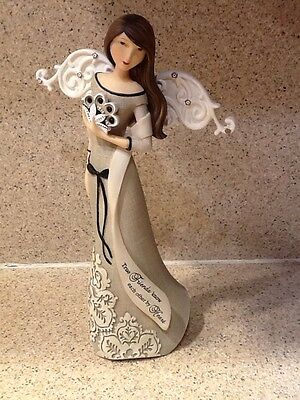 "Friendship Angel Figurine ""True Friends Know Each Other By Heart"""