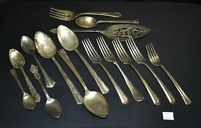 ThriftCHI ~ Mixed Lot of Silverplated Flatware - Serving Spoon, Forks +