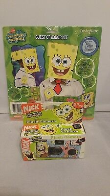 Nick Spongebob Squarepants 35 Mm 1 Time Use Flash Camera 2006 & Guest Honor Kit