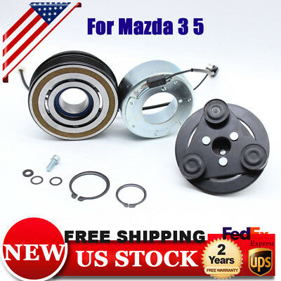 New For Mazda 3 5 04-09 AC Clutch Kit Front Plate Bearing Coil Pulley 140162C