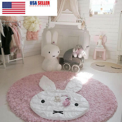 US Baby Carpet Play Mat Crawling Cotton Soft Blanket for Kids Room Floor Rug
