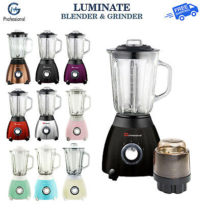 Electric Multi Food Blender & Grinder Glass Jug Smoothie Maker Processor 500W