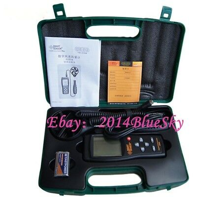 Smart Sensor AS856 Air-flow Anemometer 0.3~45m/s with USB !!NEW!!