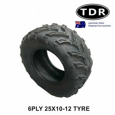 NEW 25x10-12 6Ply Tyre ATV UTV Quad Bike 12 inch tire side by side buggy 12""