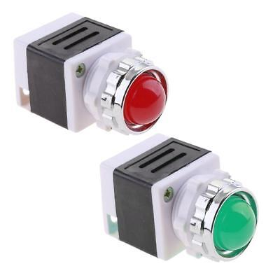 2pcs Light Indicator Lamp 220V Panel Mount Signal LED Sign for Machine