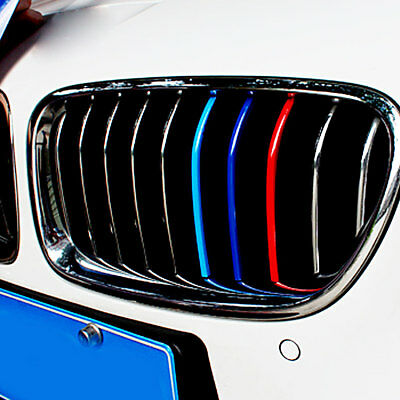 3 Color Front Grille Grill Vinyl Strip Sticker Decal For Bmw M3 M5 E46 E60 E90