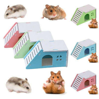 Small Pet Hamster Hedgehog Guinea Pig with Ladder Playground Castle Exercise Toy