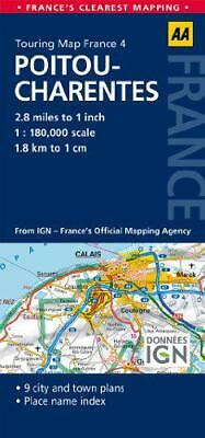 4. Pitou-Charentes: AA Road Map France (Aa Road Map France 04) by  | Map Book |