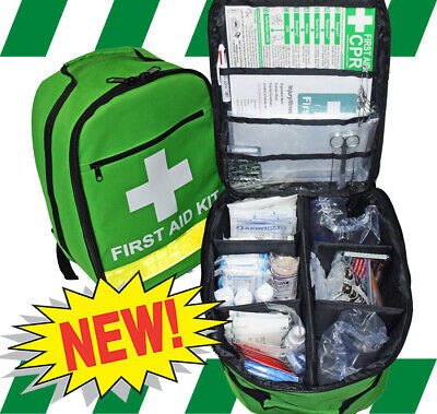 First Aid Kit - Backpack Premium - Safe Work Australia Essential Kit +Free Items