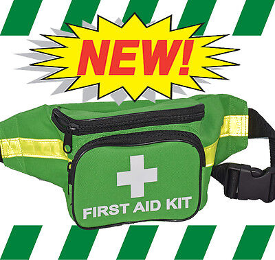 FIRST AID KIT BUMBAG - Green Premium - EMPTY BUMBAG ONLY - NO CONTENTS