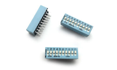 206-10 CTS DIP Switches / SIP Switches Slide Type Switch Module Pitch 10 (1 pcs)