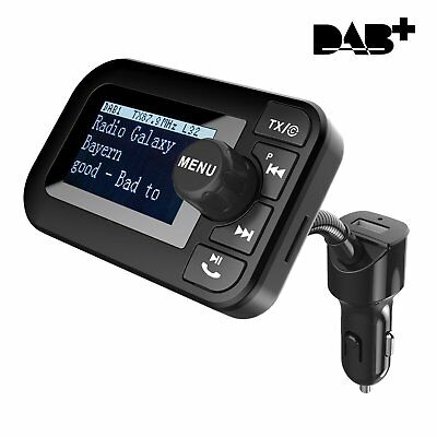 Car DAB+ Digital Radio with Bluetooth FM Transmitter Receiver and Car Kit /charg