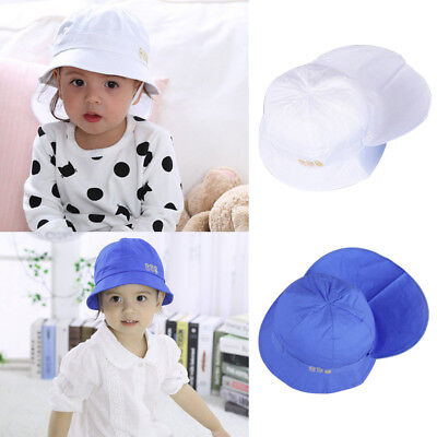 Baby Summer Sun Hat Toddler Boys Girls Beach Cotton Bucket Cap Set Accessories