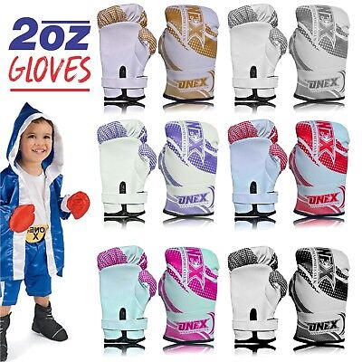 ONEX 2oz Kids Boxing Gloves Junior Mitts Punching Bag Children Gel Pad Gloves