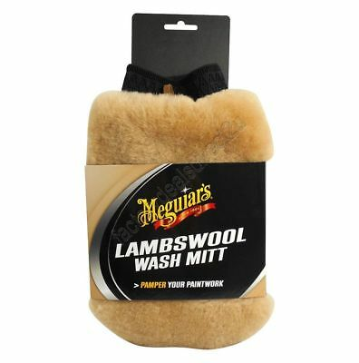 Meguiars Lambswool Wash Mitt With Bug Remover AG1015 Free Shipping!
