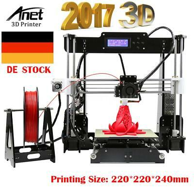 Anet A8 3D Printer DIY i3 Upgradest High Precision Reprap 3D Desktop Drucker DHL