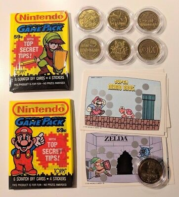 7x Arcade Token * FULL SET * Video Expo 1982 * Donkey Kong, Pac Man, Nintendo!!!