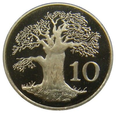 (P47) - Simbabwe Zimbabwe - 10 Cents 1980 - Affenbrotbaum Tree - Proof - KM# 3