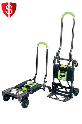 Folding Hand Truck Dolly Trolley Rolling Utility Cart Foldable Portable 300lbs
