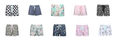 cotton Printed Knit Shorts womens ladies size 8 10 12 14 16 18 20 22 24 26