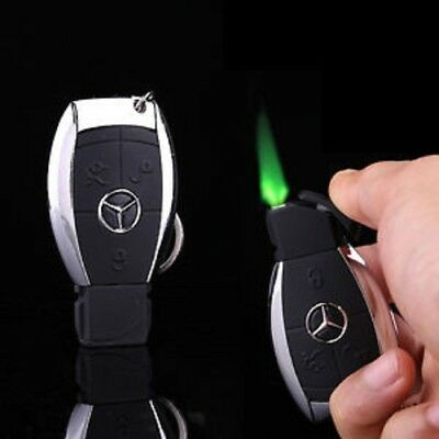 windproof keyring cigarette lighter Mercedes BMW Gas Lighter Windproof JET GAS