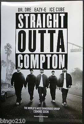 Straight Outta Compton Original 2015 Cinema 1 Sheet  Poster Nwa Dr Dre Ice Cube