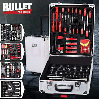 NEW Bullet 416 Piece Metric Tool Kit Trolley Case Home DIY Tool Carry Roller Set