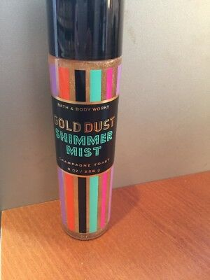Bath & body works Gold Dust Shimmer Mist Champagne Toast fine fragrance mist