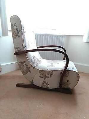 Vintage Art Deco Rocking Chair