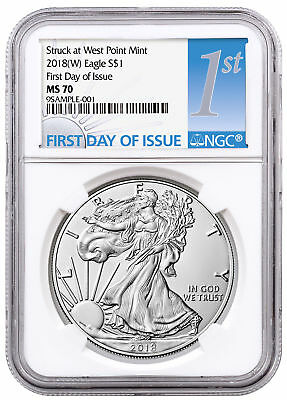 2018-(W) American Silver Eagle Struck West Point NGC MS70 FDI SKU51288