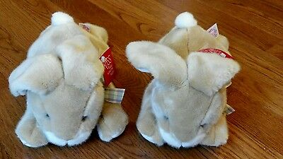"2 Russ Hoppetty Brown Bunny Rabbit 12"" Plush NWT EASTER! Twins"