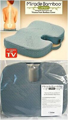 Miracle Bamboo Cushion Seat Chair Pillow Orthopedic As Seen On Tv