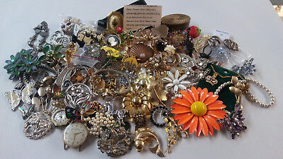 Mixed Vintage Modern Costume 925 Sterling Silver 2lb Jewelry Lot See Pics