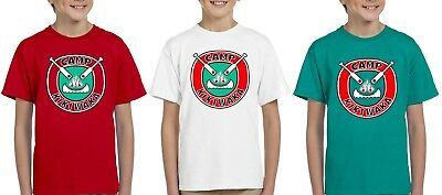 New kikiwaka camp bunk d youth tshirt kids camping S-XL