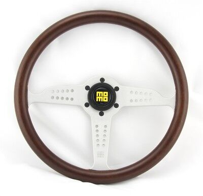 MOMO WOOD MAHOGANY SPORTS STEERING WHEEL Heritage Grand Prix 13 25/32in Walnut